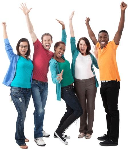 Cheering-people