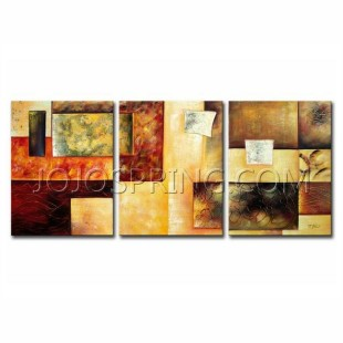 Abstract Multicolor Hand-painted 3-piece Oil Painting Set